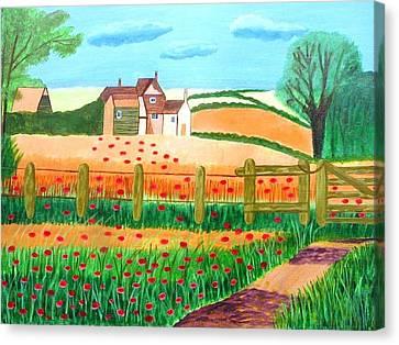 A Poppy Field Canvas Print