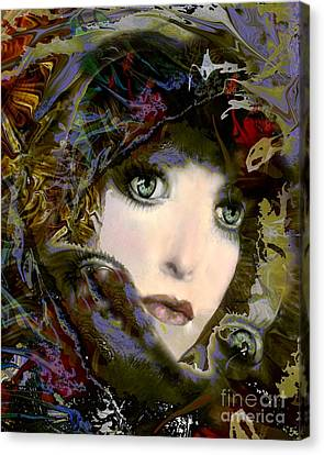 A Portrait Of A Friend Canvas Print by Doris Wood
