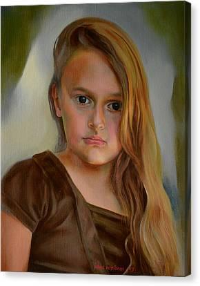 A Portrait Of A Girl Canvas Print by Jukka Nopsanen