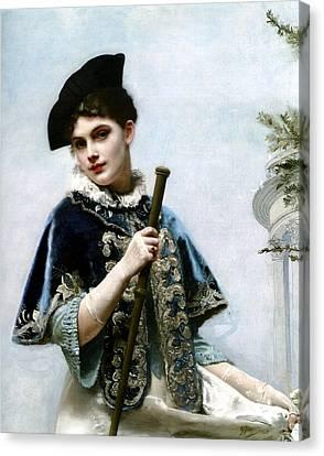 A Portrait Of A Nobel Lady Canvas Print