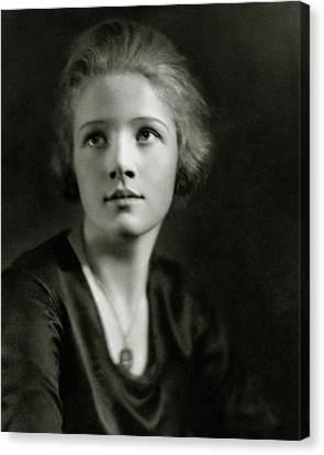 A Portrait Of Ann Harding Canvas Print by Nickolas Muray