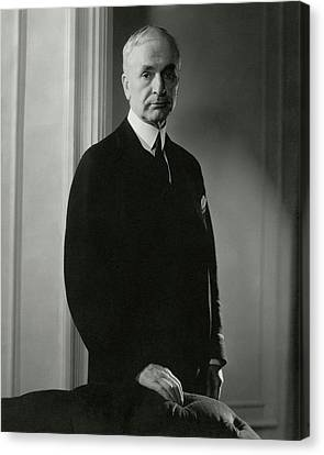 A Portrait Of Cordell Hull Canvas Print by Edward Steichen