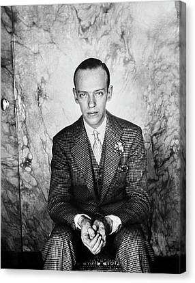 A Portrait Of Fred Astaire Sitting Canvas Print by Cecil Beaton
