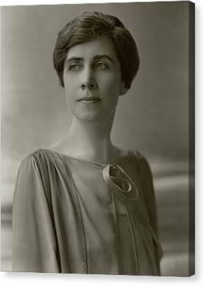 A Portrait Of Grace Coolidge Canvas Print by Nickolas Muray