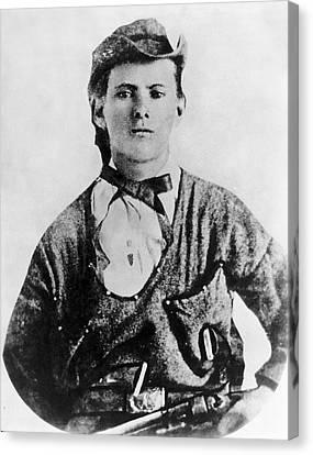 A Portrait Of Jesse James Canvas Print