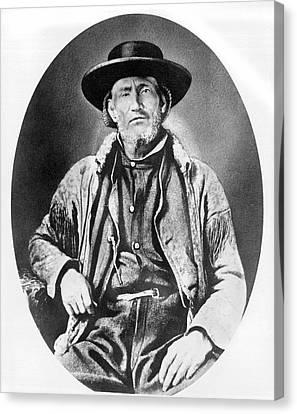 A Portrait Of Jim Bridger Canvas Print