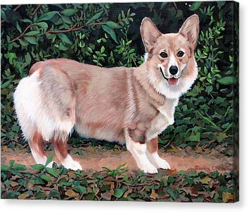 A Portrait Of Pickle Canvas Print by Sandra Chase