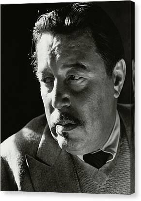 A Portrait Of Warner Oland Canvas Print