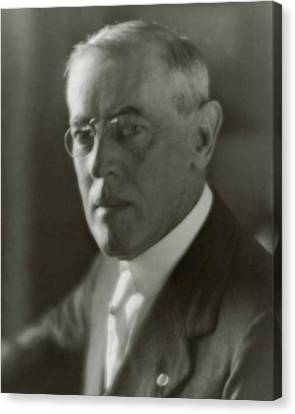 A Portrait Of Woodrow Wilson Canvas Print by Arnold Genthe