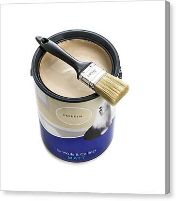Emulsion Canvas Print - A Pot Of Emulsion Paint by Science Photo Library