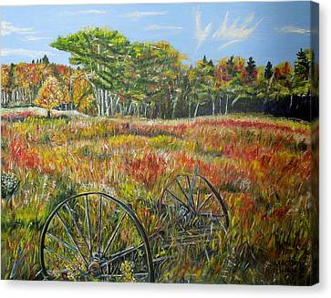 Canvas Print featuring the painting A Prairie Treasure by Marilyn  McNish