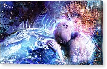 A Prayer For The Earth Canvas Print by Cameron Gray
