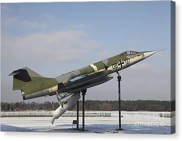 A Preserved F-104g Starfighter Canvas Print by Timm Ziegenthaler
