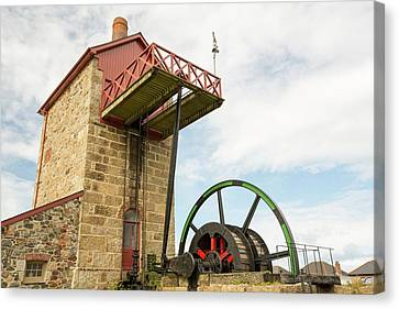 A Preserved Tin Mine Engine House Canvas Print by Ashley Cooper