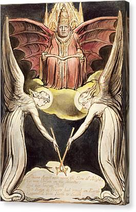 Blake Canvas Print - A Priest On Christ's Throne by William Blake