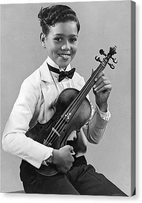Violin Canvas Print - A Proud And Elegant Violinist by Underwood Archives