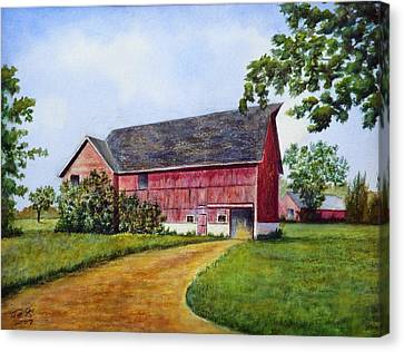Canvas Print featuring the painting A Proud Past by Thomas Kuchenbecker