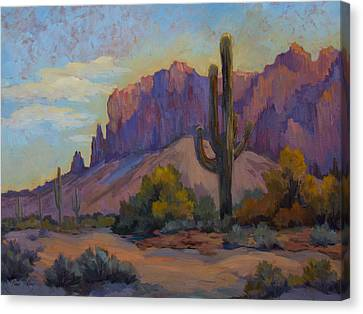 A Proud Saguaro At Superstition Mountain Canvas Print