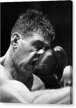 A Punch In The Nose Canvas Print by Underwood Archives