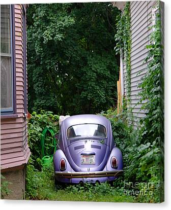 A Purple Car Grows In Madison Canvas Print by David Bearden