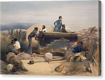 A Quiet Day In The Diamond Battery Canvas Print by William 'Crimea' Simpson