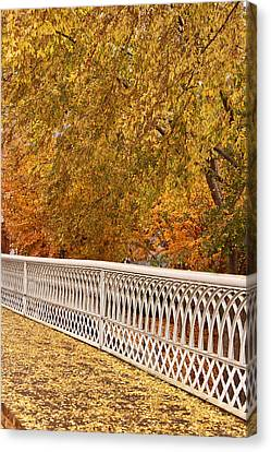 A Quiet Day On The Riverwalk Canvas Print by Tom and Pat Cory
