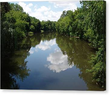 Canvas Print featuring the photograph A Quiet River by Teresa Schomig