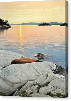 A Quiet Time Canvas Print by Kenneth M  Kirsch