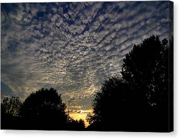 A Quilted Sky Canvas Print by Linda Unger