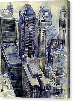Rainy Day In Gotham Canvas Print by Jeffrey S Perrine