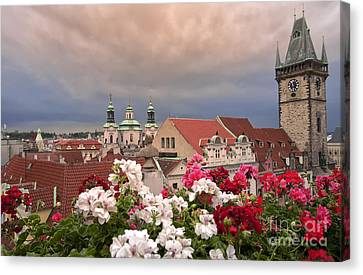 A Rainy Day In Prague 2 Canvas Print by Madeline Ellis