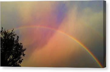 Canvas Print featuring the photograph A Ranbow by Chris Tarpening