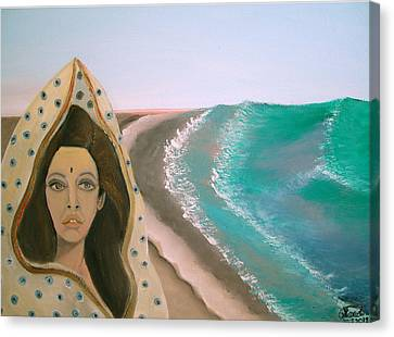 Canvas Print featuring the painting A Rani's Paradise by Saad Hasnain