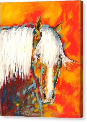 A Red Hot Head Canvas Print by Mary Armstrong