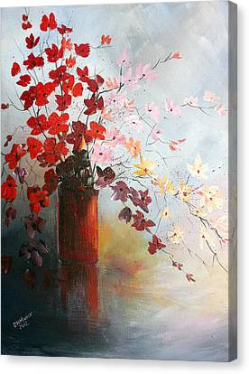 A Red Vase Canvas Print
