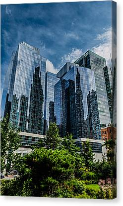 A Reflection Of Boston Canvas Print