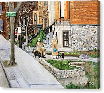 A Rest On Summerhill Avenue Canvas Print by Reb Frost
