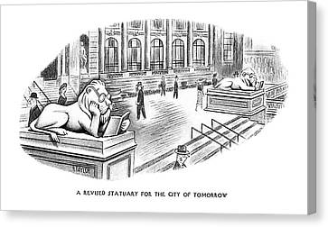 A Revised Statuary For The City Of Tomorrow Canvas Print by Richard Taylor