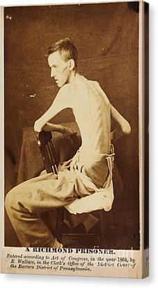 A Richmond Prisoner In American Civil War Canvas Print by Celestial Images