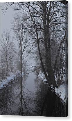 A River In March Canvas Print by BandC  Photography