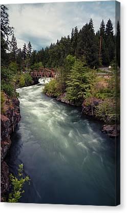 Canvas Print featuring the photograph A River Runs Through It by Brian Bonham