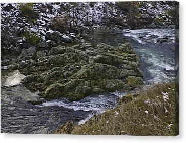 Canvas Print featuring the photograph A River Runs Through It by Sherri Meyer