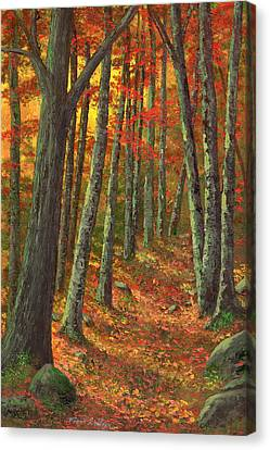 A Road Less Traveled Canvas Print by Frank Wilson