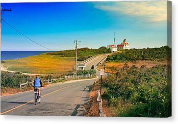 A Road To Coast Guard Beach Eastham Cape Cod Canvas Print by Dapixara Art