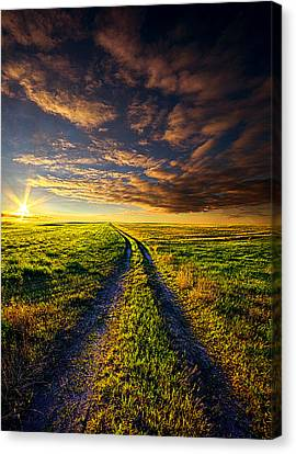 A Road To Nowhere In Particular Canvas Print by Phil Koch