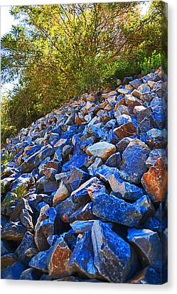 Canvas Print featuring the photograph A Rocky Hill by Naomi Burgess