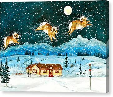 A Rocky Mountain Dream                             Canvas Print by Virginia Ann Hemingson