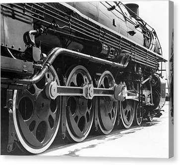 A Roller-bearing Locomotive. Canvas Print