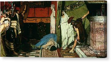 A Roman Emperor   Claudius Canvas Print by Sir Lawrence Alma Tadema
