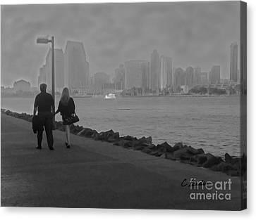 A Romantic Walk 2 Canvas Print